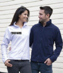 PERSONALISED EMBROIDERED UNISEX RESULT MICRON WHITE FLEECE JACKET. IDEAL FOR IN AND OUTDOOR LAWN BOWLS WEAR. ANY NAME EMBROIDERED ON GARMENT